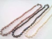 "30"" Oval Pearl Necklace"
